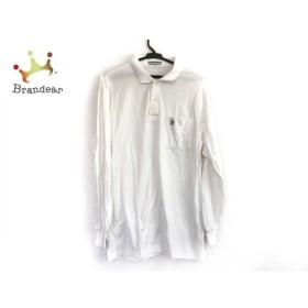マンシングウェア Munsingwear 長袖ポロシャツ メンズ 美品 アイボリー   スペシャル特価 20190914