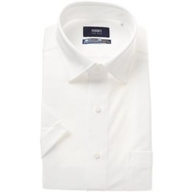 【洋服の青山:トップス】【半袖】【NON IRONMAX COOL】【ワイドカラー】スタイリッシュニットワイシャツ