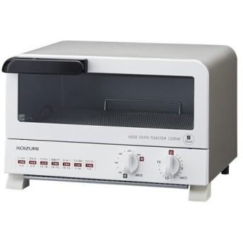 コイズミ オーブントースター ホワイト KOIZUMI KOS-1204-W 返品種別A