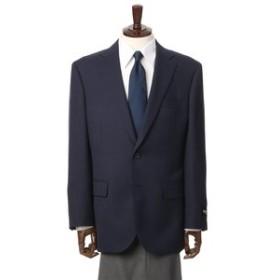 【洋服の青山:ジャケット】【チェック】【ウール混】スタンダードジャケット