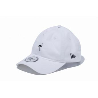 【ニューエラ公式】 9THIRTY クロスストラップ ミニロゴ フラミンゴ ホワイト メンズ レディース 56.8 - 60.6cm キャップ 帽子 12082890 NEW ERA