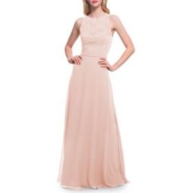 レブコフ レディース ワンピース トップス #Levkoff Lace Bodice Chiffon Gown Petal Pink