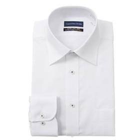 【洋服の青山:トップス】【長袖】【OEKO-TEX(R)】【ワイドカラー】スタンダードワイシャツ