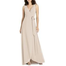 ジェニー・パッカム レディース ワンピース トップス Jenny Packham Chiffon Wrap Evening Dress Cameo