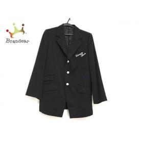 バレンザポースポーツ ジャケット サイズ40 M メンズ 黒 肩パッド/ラインストーン   スペシャル特価 20190906