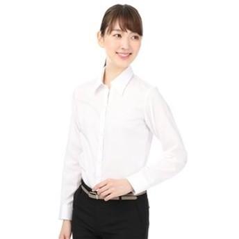 【洋服の青山:トップス】【長袖】【NON IRONMAX】【スキッパーカラー】ブラウス(クイーン)