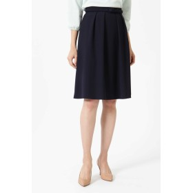 NATURAL BEAUTY ◆プルエラサキソニーベルト付ふんわりスカート ひざ丈スカート,ネイビー