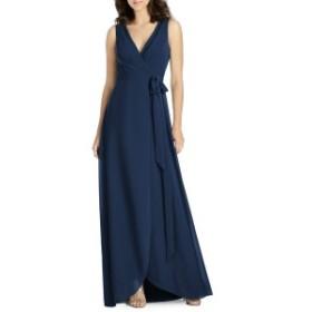 ジェニー・パッカム レディース ワンピース トップス Jenny Packham Chiffon Wrap Evening Dress Midnight
