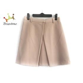 ミラオーウェン Mila Owen ミニスカート サイズ0 XS レディース 美品 ベージュ 新着 20190611