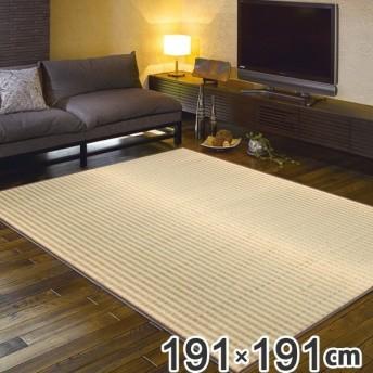 畳 い草ラグ 朝間 191×191 2畳 滑り止め無し い草 畳マット ( ラグ マット 上敷き フローリング畳 )