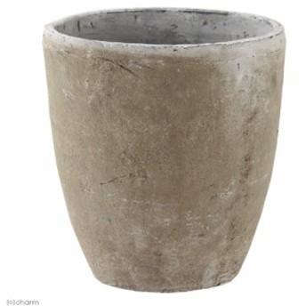 アンティークポット 直径21×23cm 白 モスポット トール バラ オリーブ 鉢