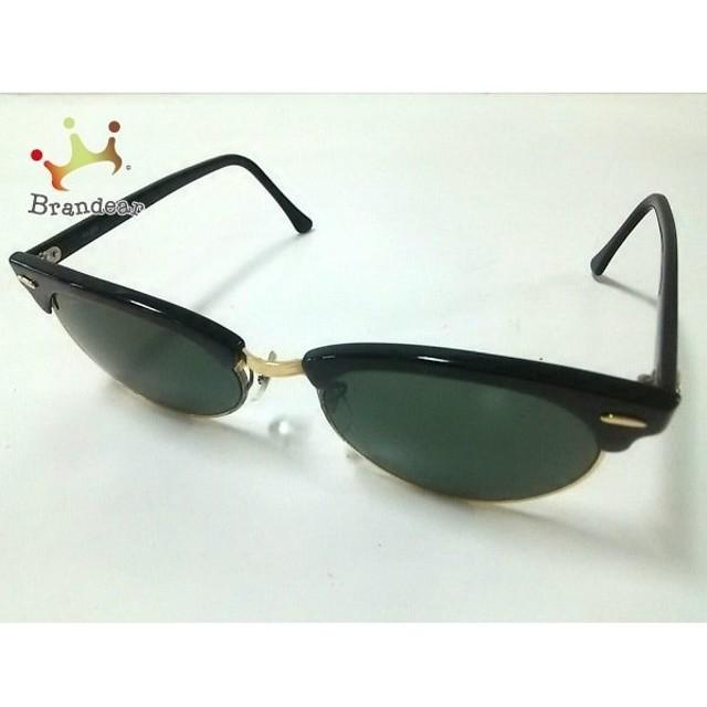 8d096b6f0638d4 レイバン サングラス W1263 ダークグリーン×ゴールド×黒 BAUSCH&LOMB プラスチック×金属素材
