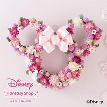 【ディズニーのフラワーギフト】ドライフラワー「ミニーマウス ハートフルリース」