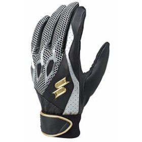 SSK (エスエスケイ) 野球 一般用シングルバンド手袋(両手) ブラック×ブラック Mサイズ EBG5000W EBG5000W ブラック×ブラック