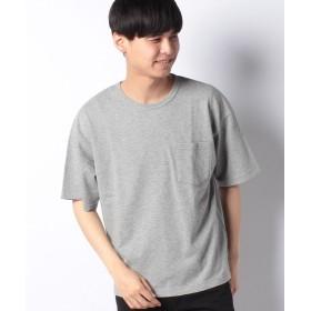 【50%OFF】 コエ 半袖ポケット付ミニ裏毛Tシャツ メンズ 杢グレー L 【koe】 【セール開催中】