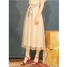 【リリーブラウン/Lily Brown】 ビーズ刺繍ロングスカート