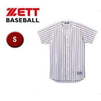 ZETT/ゼット  BU521-1119 フルオープン ストライプメッシュシャツ 【S】 (ホワイト×ブラック)
