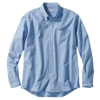 綿100%オックスフォードカジュアル長袖シャツ(消臭テープ付) カジュアルシャツ