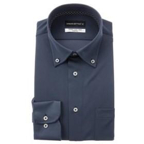 【洋服の青山:トップス】【長袖】【ニット素材】【ボタンダウン】スタイリッシュワイシャツ