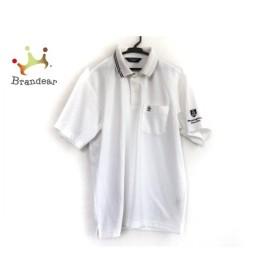 マンシングウェア Munsingwear 半袖ポロシャツ サイズL メンズ アイボリー×ダークネイビー   スペシャル特価 20190915