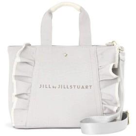 【公式/JILL by JILLSTUART】フリルキャンバストートバッグ/女性/キャンバスバッグ/グレー/サイズ:FR/