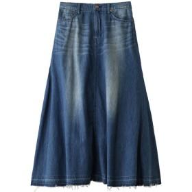 JET ジェット 【JET LOS ANGELES】ロングデニムスカート ブルー