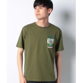 コムサイズム ポパイ&オリーブコラボ ポケット付き Tシャツ ユニセックス カーキ M 【COMME CA ISM】