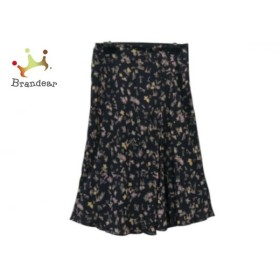 ソニアリキエル SONIARYKIEL スカート サイズ38 M レディース 美品 黒×ベージュ×マルチ  値下げ 20190915