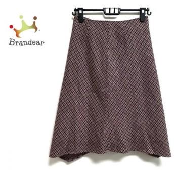 ジユウク スカート サイズ40 M レディース 美品 ピンク×パープル×マルチ チェック柄 スペシャル特価 20190909