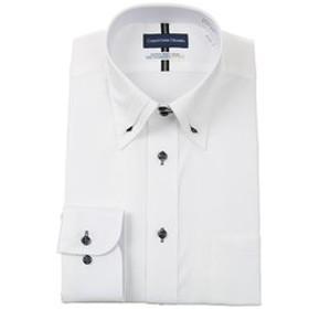 【洋服の青山:トップス】【長袖】【ボタンダウン】【清涼】スタンダードワイシャツ
