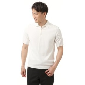 【洋服の青山:トップス】天竺ニットポロシャツ