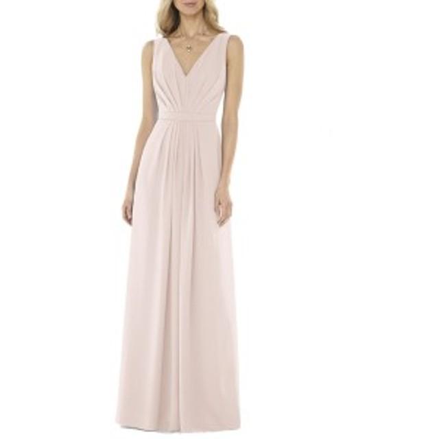 ソーシャルブライドメイド レディース ワンピース トップス Social Bridesmaids V-Neck Georgette Gown Blush