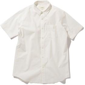 【50%OFF】 ビームス メン BEAMS / ストレッチ ブロード パラシュート ボタン シャツ メンズ WHITE L 【BEAMS MEN】 【セール開催中】