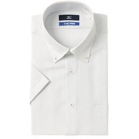 【洋服の青山:トップス】【半袖】【ICE TOUCH】【ボタンダウン】スタイリッシュワイシャツ
