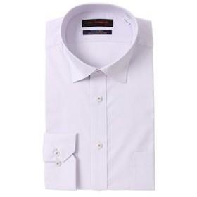 【洋服の青山:トップス】【長袖】【ストレッチ】【ワイドカラー】スタイリッシュワイシャツ
