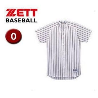 ZETT/ゼット  BU521-1119 フルオープン ストライプメッシュシャツ 【O】 (ホワイト×ブラック)