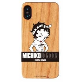 iPhoneXS Max ケース iPhone XS Max ケース MICHIKO LONDON ミチコロンドン Betty Boop ベティー ブープ  ウッドケース street style お