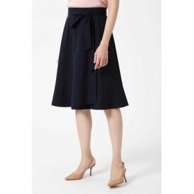 NATURAL BEAUTY 裾フレアラップスカート ひざ丈スカート,ネイビー