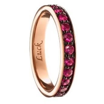 モニカリッチコサン レディース キーケース&キーリング アクセサリー Monica Rich Kosann Luck Ruby Poesy Ring Charm 18k Rose Gold