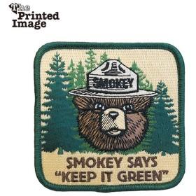 The Printed Image プリンティッドイメージ スモーキーベア KEEP IT GREEN パッチ