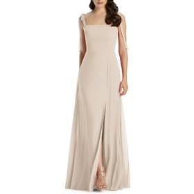 ドレッシーコレクション レディース ワンピース トップス Dessy Collection Shoulder Tie Chiffon Evening Dress Cameo