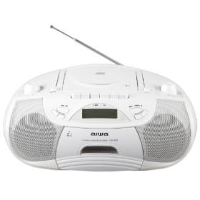 CSD-B50W ラジカセ aiwa ホワイト [Bluetooth対応 /ワイドFM対応 /CDラジカセ]