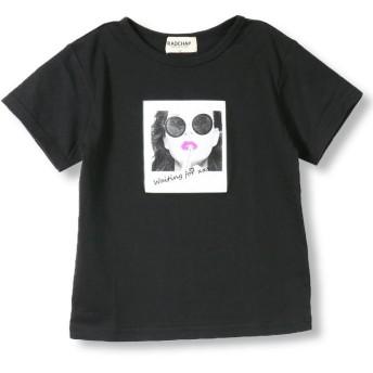 【25%OFF】 ブランシェス 転写プリント半袖Tシャツ(90~140cm) レディース ブラック 90cm 【branshes】 【セール開催中】