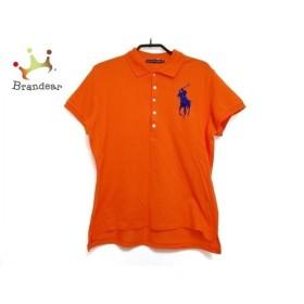 ラルフローレン RalphLauren 半袖ポロシャツ サイズ7f L レディース オレンジ×ブルー ビーズ   スペシャル特価 20190928