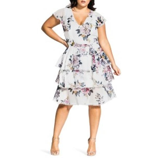 シティーシック レディース ワンピース トップス City Chic Summer Love Dress (Plus Size) Summer Love