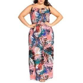シティーシック レディース ワンピース トップス City Chic Copacabana Maxi Dress (Plus Size) Copacabana