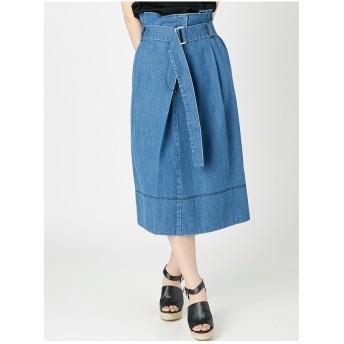 MERCURYDUO デニムラップスカート(ブルー) ブルー