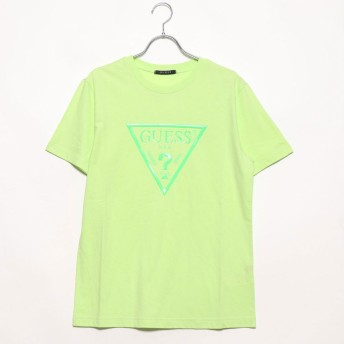 ゲス GUESS NEON TRIANGLE LOGO TEE (LIME)