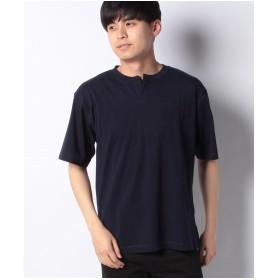 koe ヘンリーネックTシャツ(ネイビー)【返品不可商品】