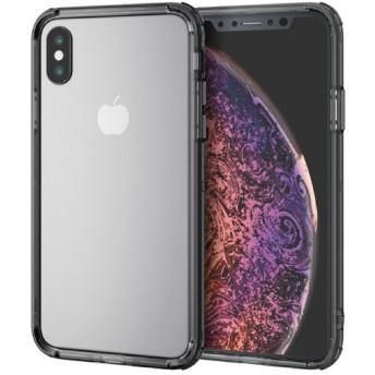 iPhone XS ハイブリッドバンパー/ブラック (1個)